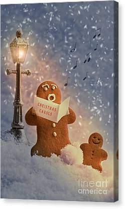 Gingerbread Carol Singers Canvas Print by Amanda And Christopher Elwell
