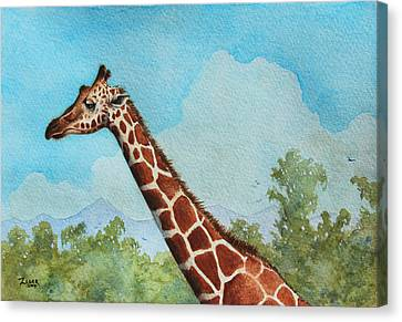 Giraffe II Canvas Print by James Zeger