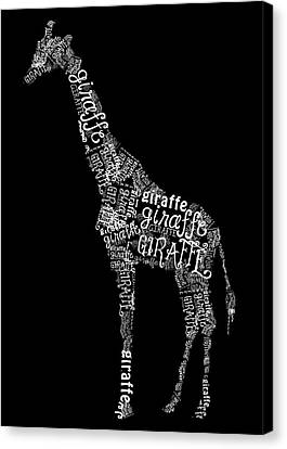 Giraffe Is The Word Canvas Print by Heather Applegate