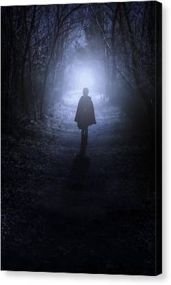 Girl In The Woods Canvas Print by Joana Kruse