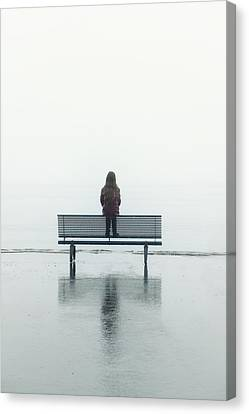 Girl On A Bench Canvas Print by Joana Kruse
