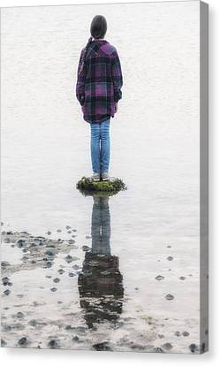 Girl On Stone Canvas Print by Joana Kruse