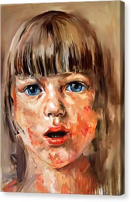 Girl Portrait Canvas Print by Michael Tsinoglou