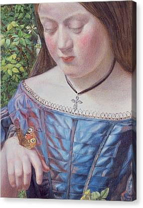 Girl With A Butterfly Canvas Print by William J Webb