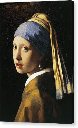 Girl With A Pearl Earring, C.1665 Oil On Canvas Canvas Print by Jan Vermeer