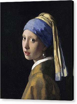 Girl With A Pearl Earring  Canvas Print by Johannes Vermeer