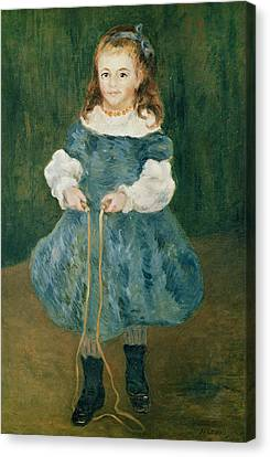 Girl With A Skipping Rope, 1876 Oil On Canvas Canvas Print by Pierre Auguste Renoir