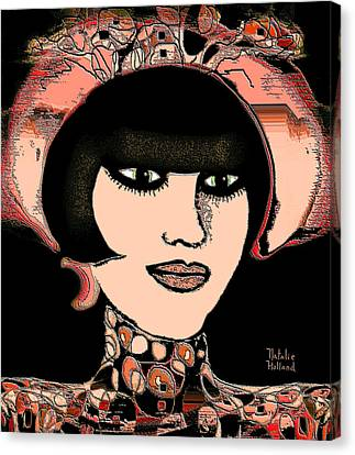 Girl With Hat Canvas Print by Natalie Holland