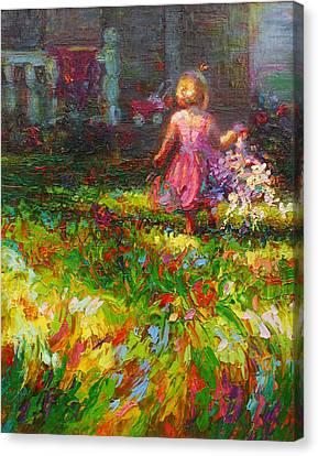 Girls Will Be Girls Canvas Print by Talya Johnson