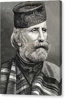 Giuseppe Garibaldi Canvas Print by Bridgeman Images