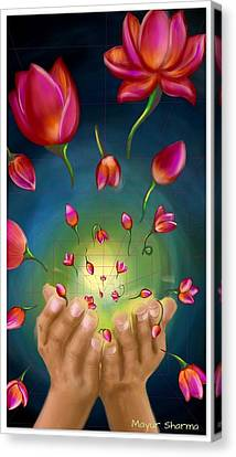 Give Away Canvas Print by Mayur Sharma