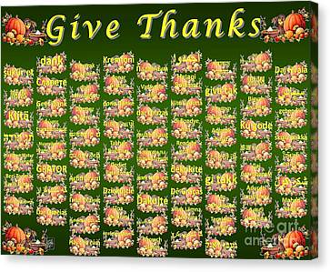 Give Thanks Canvas Print by J McCombie