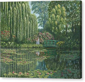 Giverny Reflections Canvas Print by Richard Harpum