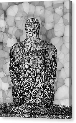 Giving Thought B / W Canvas Print by Jack Zulli