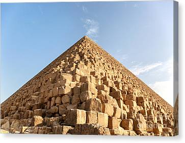 Giza Pyramid Detail Canvas Print by Jane Rix