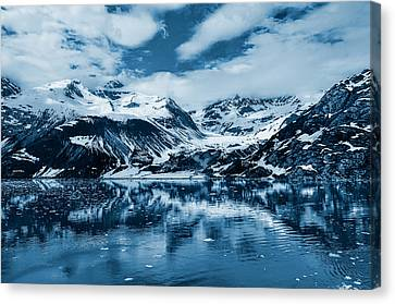 Glacier Bay - Alaska - Landscape - Blue  Canvas Print by Shara Lee