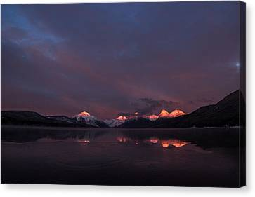 Alpen Glow // Lake Mcdonald, Glacier National Park Canvas Print by Nicholas Parker