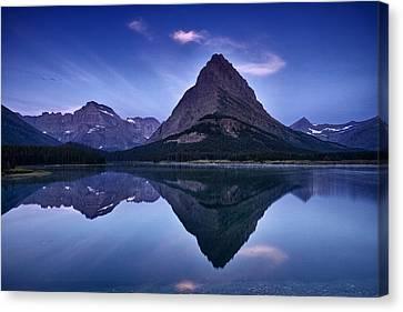 Glacier Park Reflection Canvas Print by Andrew Soundarajan