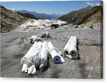 Glacier Protection Canvas Print by Science Photo Library