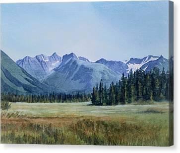 Glacier Valley Meadow Canvas Print by Sharon Freeman
