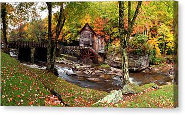 Glade Creek Grist Mill, Babcock State Canvas Print by Panoramic Images