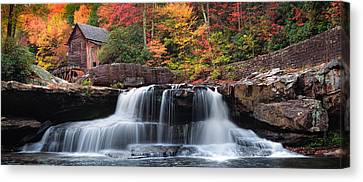 Glade Creek Grist Mill  Pano Canvas Print by Emmanuel Panagiotakis