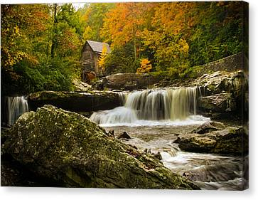 Glade Creek Grist Mill Canvas Print by Shane Holsclaw