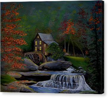Glade Creek Grist Mill Canvas Print by Stefon Marc Brown