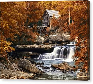 Glade Creek Mill In Autumn Canvas Print by Tom Mc Nemar