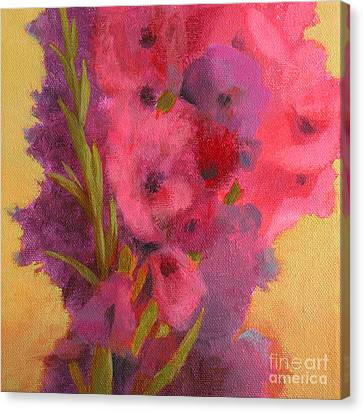 Gladiolas No. 1 Canvas Print by Melody Cleary