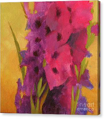 Gladiolas No. 2 Canvas Print by Melody Cleary