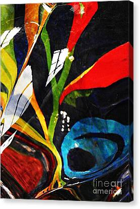 Glass Abstract 297 Canvas Print by Sarah Loft