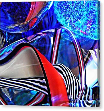 Glass Abstract 503 Canvas Print by Sarah Loft
