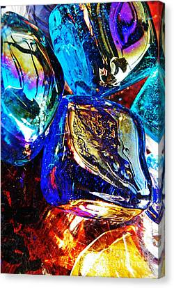 Glass Abstract 687 Canvas Print by Sarah Loft