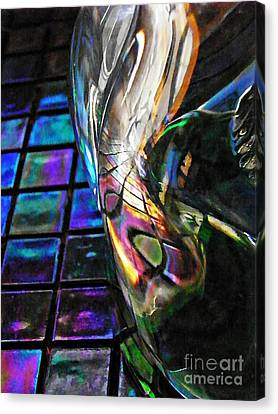 Glass Abstract 770 Canvas Print by Sarah Loft