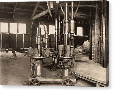 Glass-blowing Machine, 1908 Canvas Print by Science Photo Library