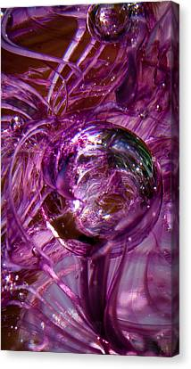 Glass Macro - Deep Pinks II Canvas Print by David Patterson