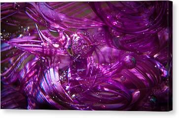 Glass Macro - Deep Pinks IIi Canvas Print by David Patterson