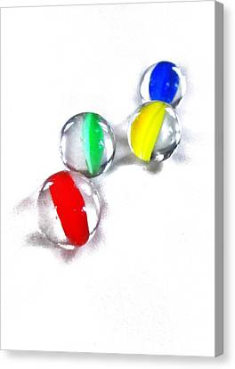 Glass Marbles Canvas Print by Marianna Mills