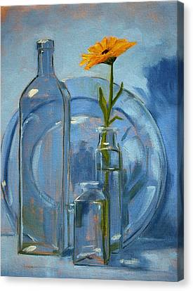 Glass Canvas Print by Nancy Merkle