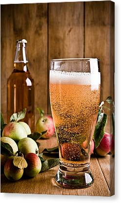 Glass Of Cyder Canvas Print by Amanda And Christopher Elwell
