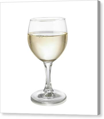 Glass Of White Wine Canvas Print by Science Photo Library