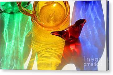 Glass Reflections #8 Canvas Print by Karen Adams