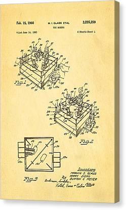 Glass Rock Em Sock Em Robots Toy Patent Art 1966 Canvas Print by Ian Monk