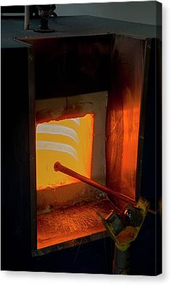 Glassblower's Furnace Canvas Print by Photostock-israel