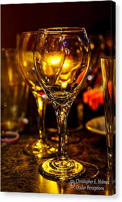 Glasses Aglow Canvas Print by Christopher Holmes