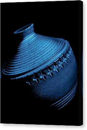 Glazed-blue Canvas Print by Tom Druin