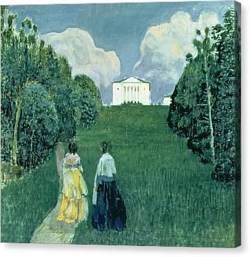 Gleam Of The Sunset, 1904  Canvas Print by Viktor Elpidiforovich Borisov-Musatov