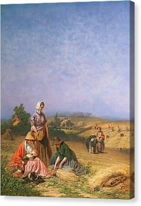 Gleaning Canvas Print by George Elgar Hicks