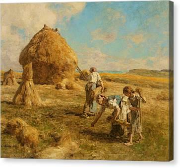 Gleaning Women Canvas Print by Leon-Augustin Lhermitte